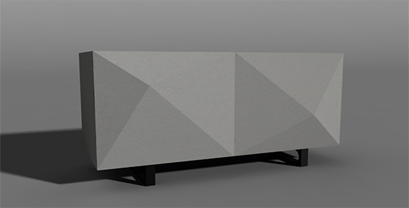 Origami table  - 3DOcean Item for Sale