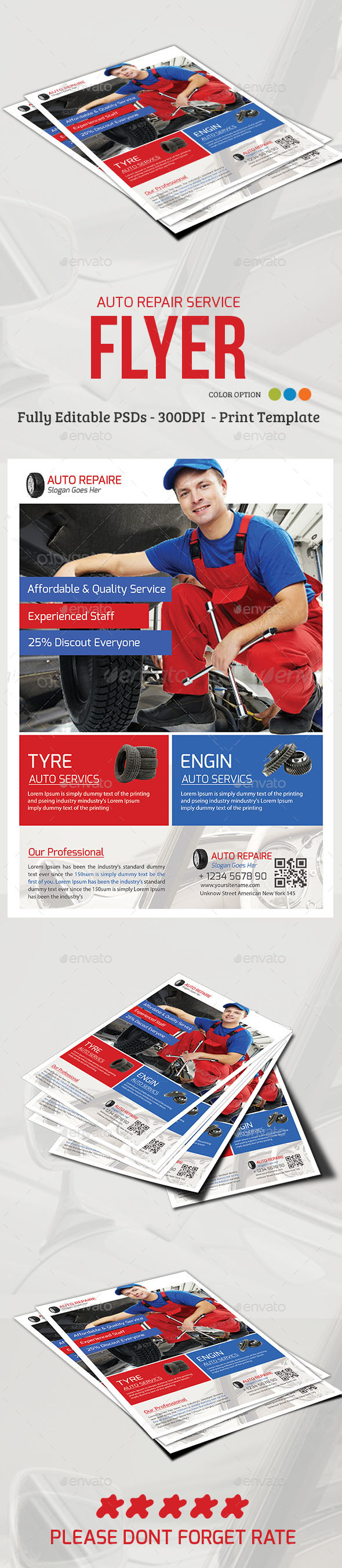 Auto Repair Service Flyer - Commerce Flyers