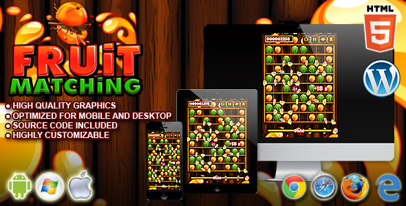 Fruit Matching - HTML5 Matching Game - CodeCanyon Item for Sale