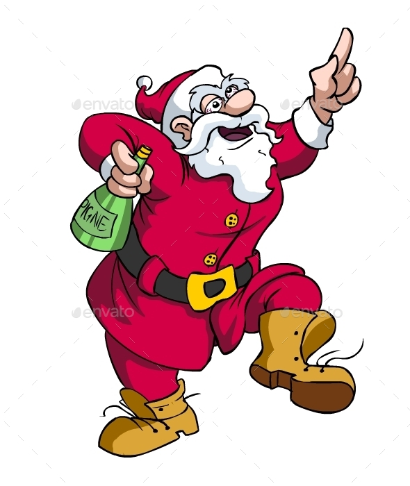 Santa Partying - Miscellaneous Characters