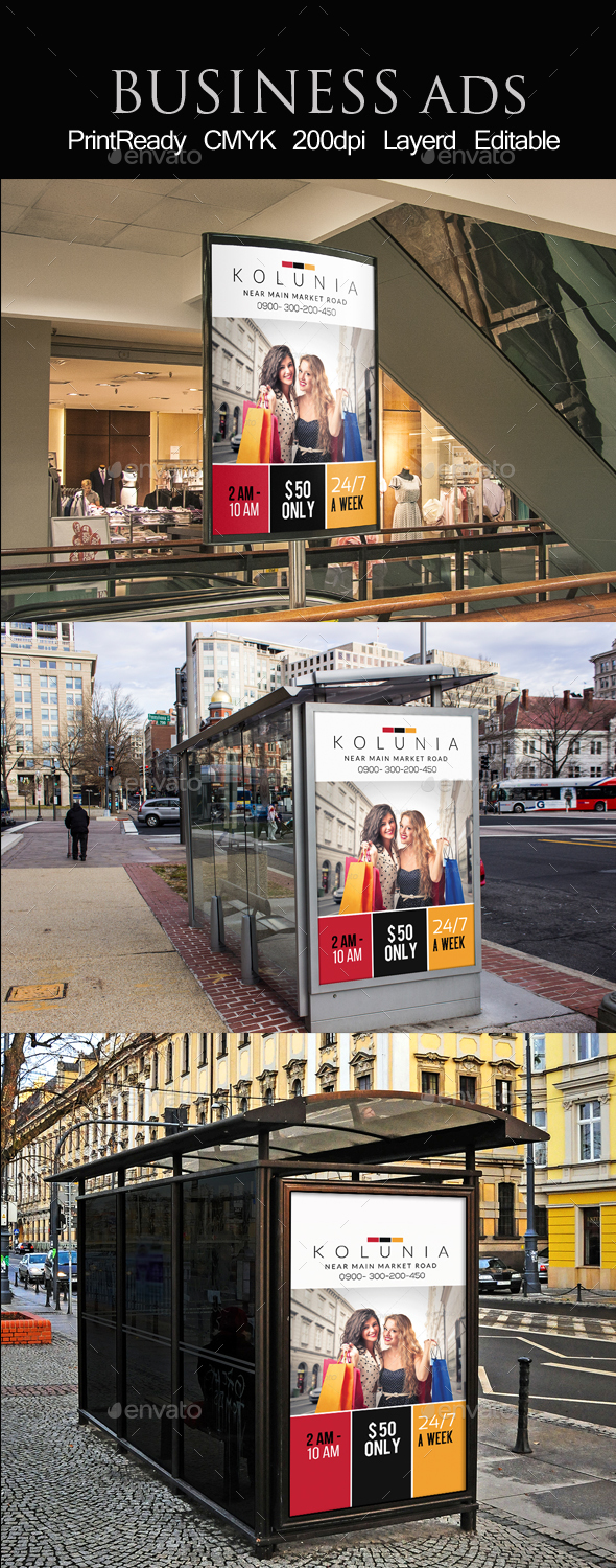 Big Sale Offer Outdoor Ad Template - Signage Print Templates