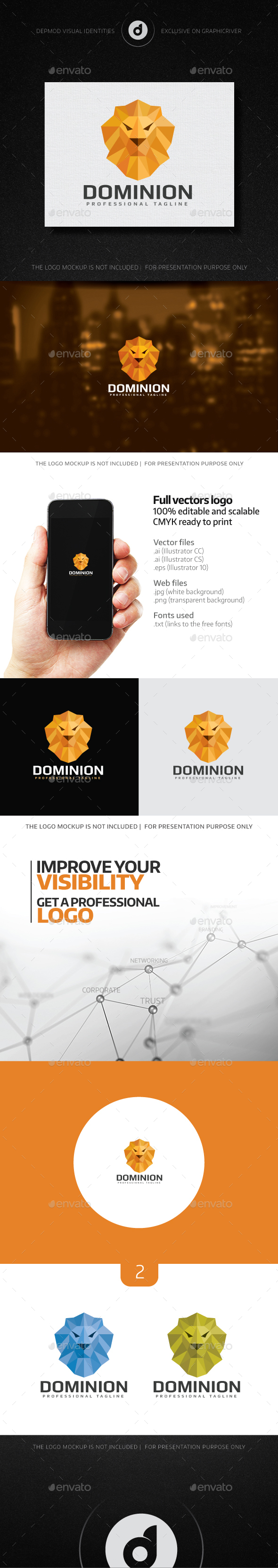 Dominion Logo - Animals Logo Templates
