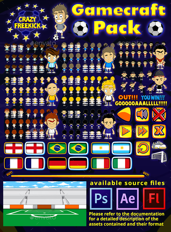 Crazy Freekick Game Assets - Game Kits Game Assets