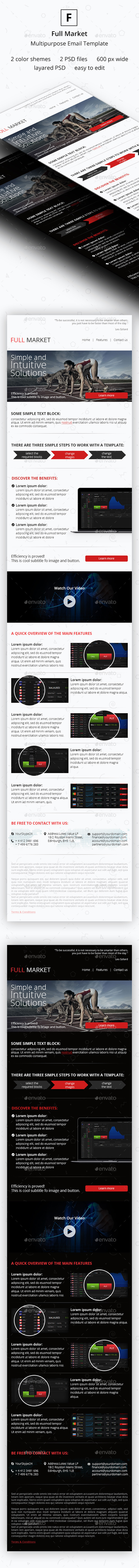 Full Market - Multipurpose Email Template - E-newsletters Web Elements