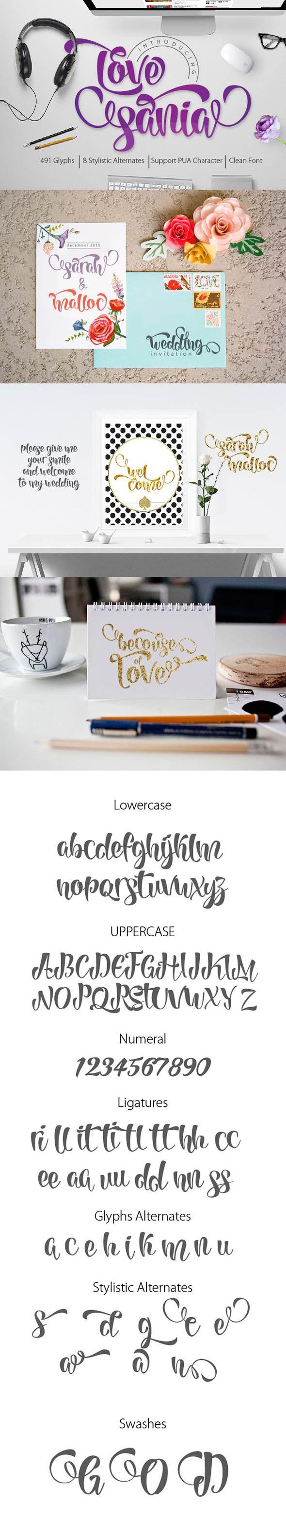 Love Sania Script - Script Fonts
