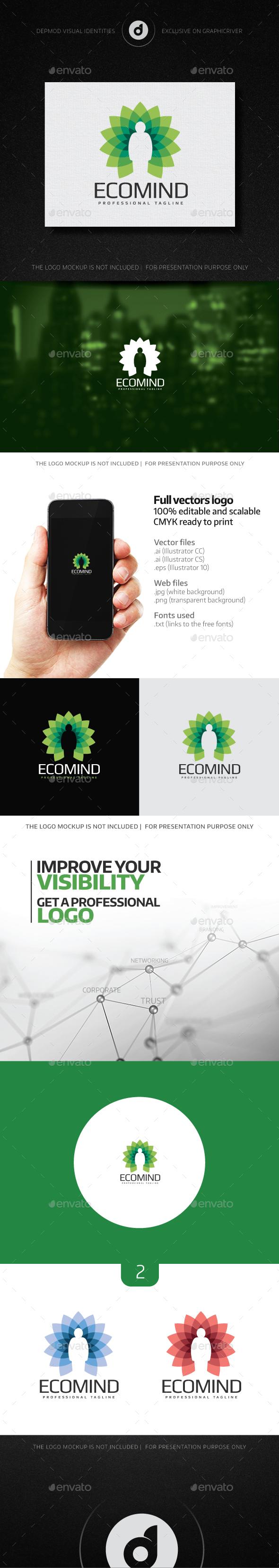 EcoMind Logo - Humans Logo Templates