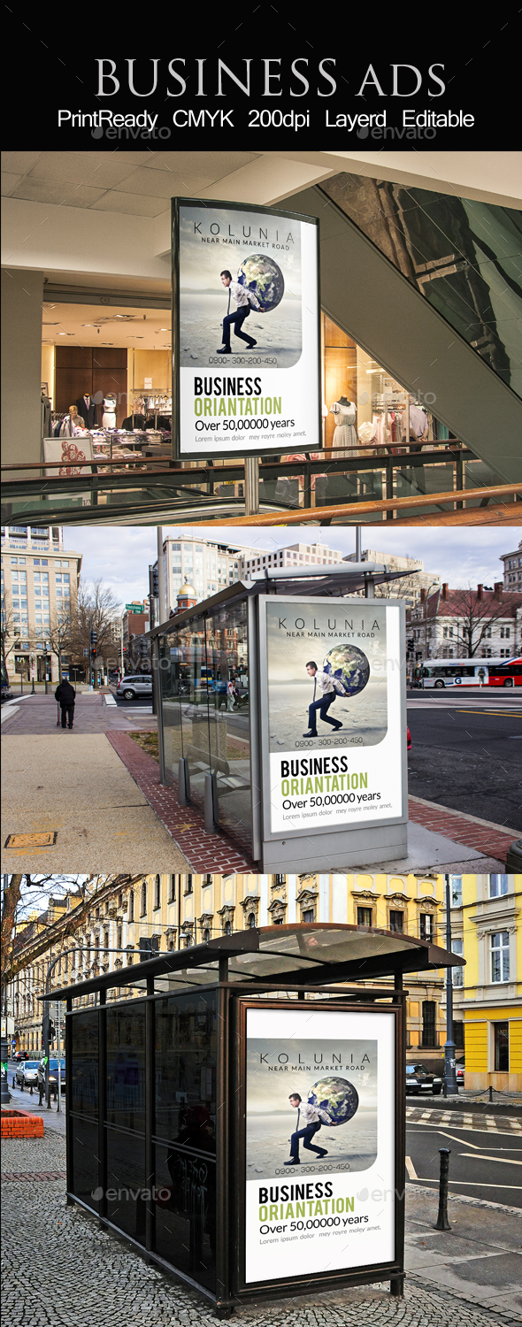 Outdoor Business Ad Template - Signage Print Templates