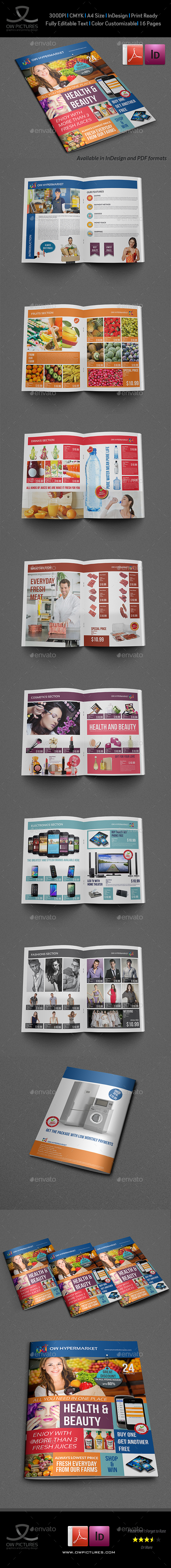 Supermarket Products Catalog Brochure Template By OWPictures - Product brochure templates