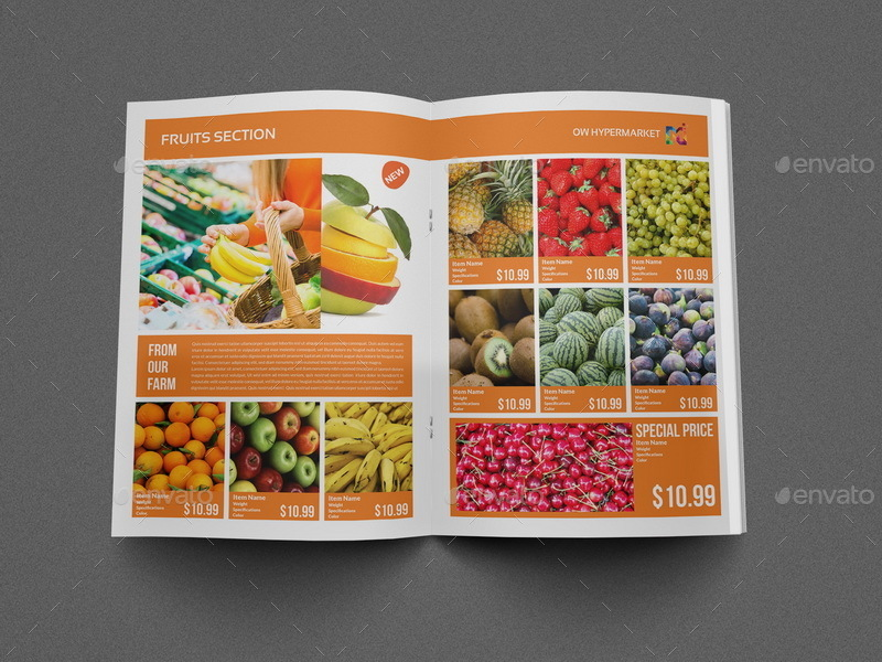 Supermarket Products Catalog Brochure Template By Owpictures