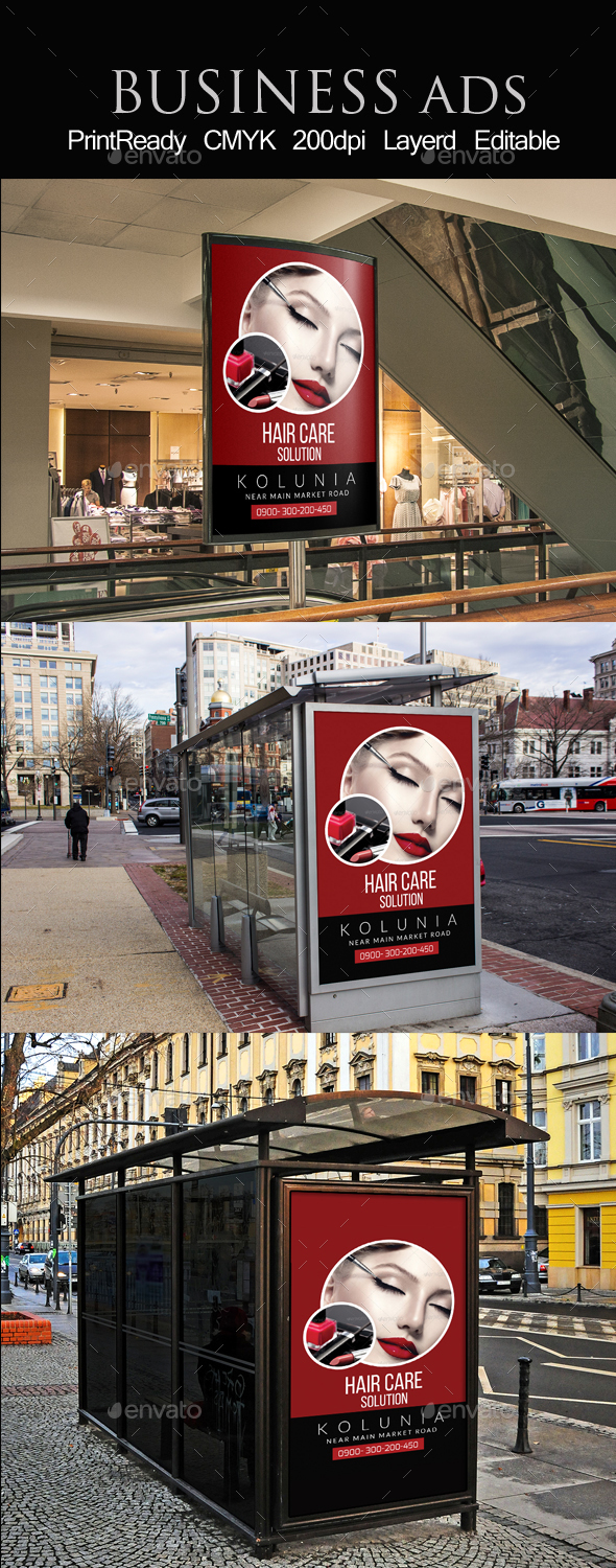 Cosmetic & Beauty Outdoor Ads - Signage Print Templates