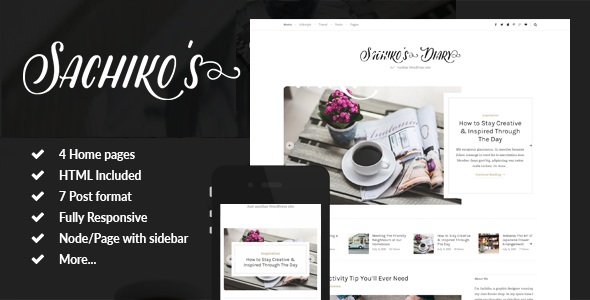 Sachiko – Responsive Drupal Blog Theme
