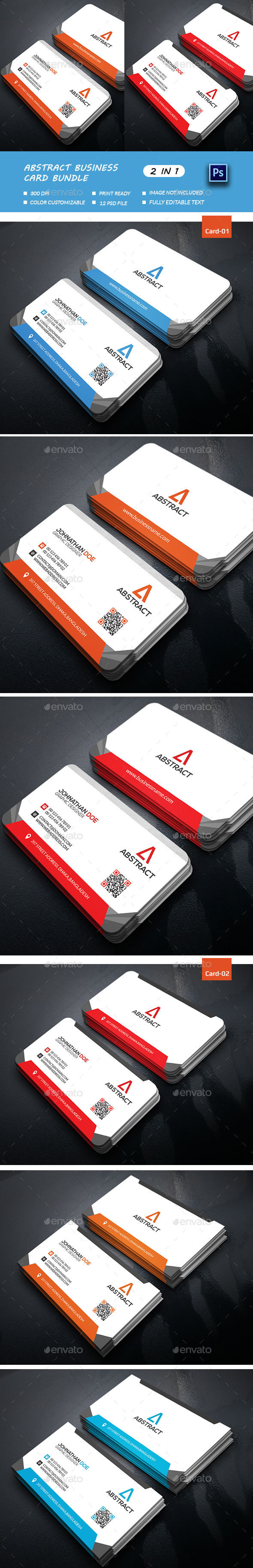 Abstract Business Card Bundle - Business Cards Print Templates