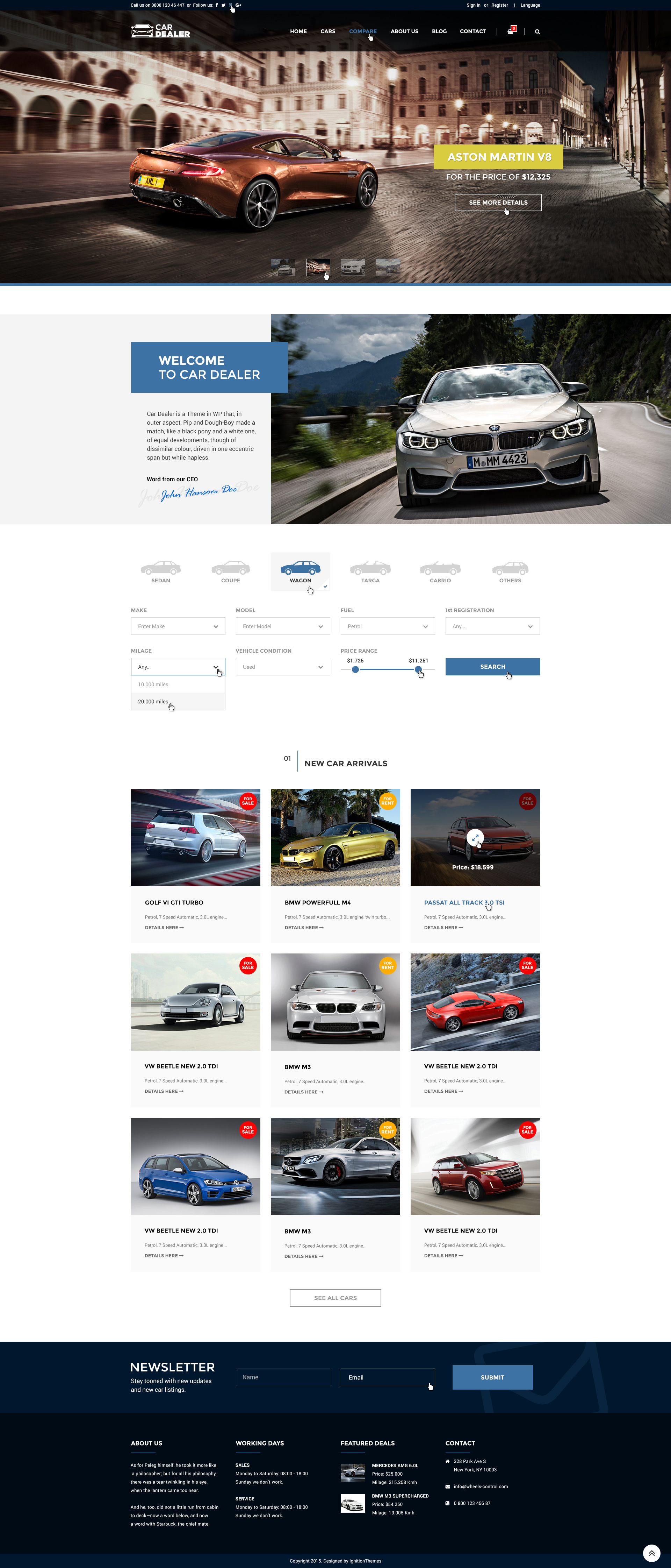 Car Dealer - Auto Dealing PSD Template by IgnitionThemes | ThemeForest