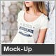 T-Shirt Mock-Up Female Model Edition - GraphicRiver Item for Sale