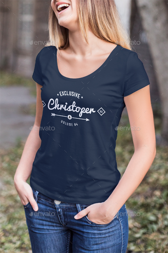 T shirt mock up female model edition by zeisla graphicriver for T shirt mock ups