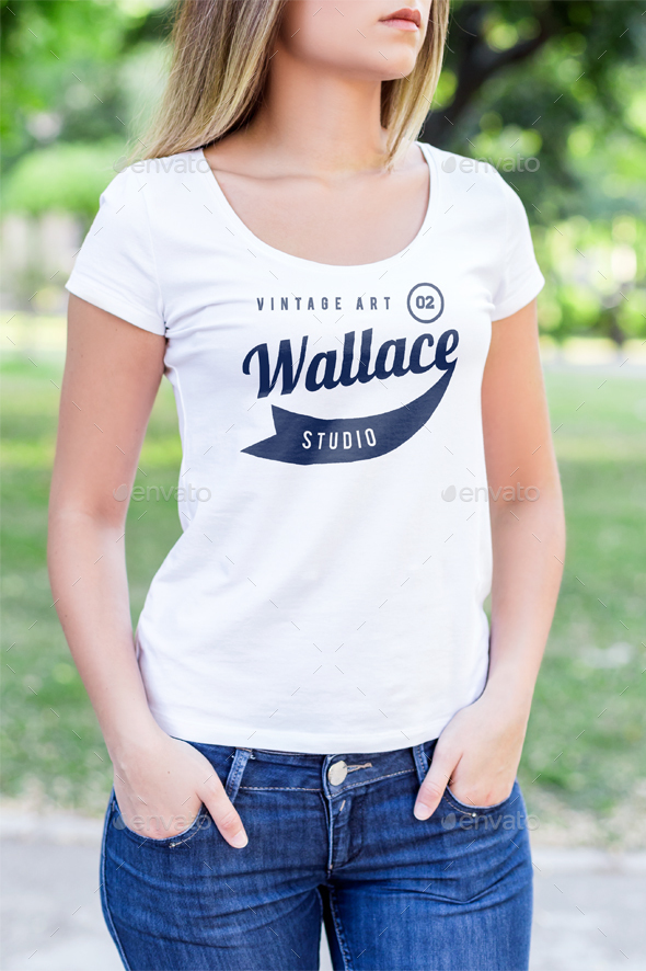 T-Shirt Mock-Up Female Model Edition by Zeisla   GraphicRiver