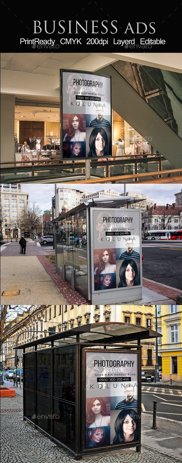 Bus Stop  Fashion Ad Template - Signage Print Templates