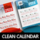 Clean Wall Calendar 2016 A3 & A4 & A5 - GraphicRiver Item for Sale