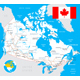 Canada Map, Flag and Roads Illustration - GraphicRiver Item for Sale