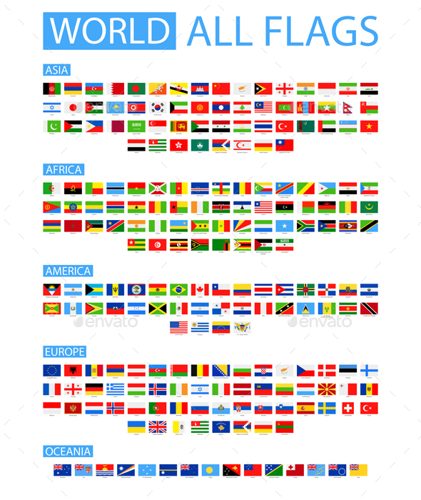 All World Flags - Travel Conceptual