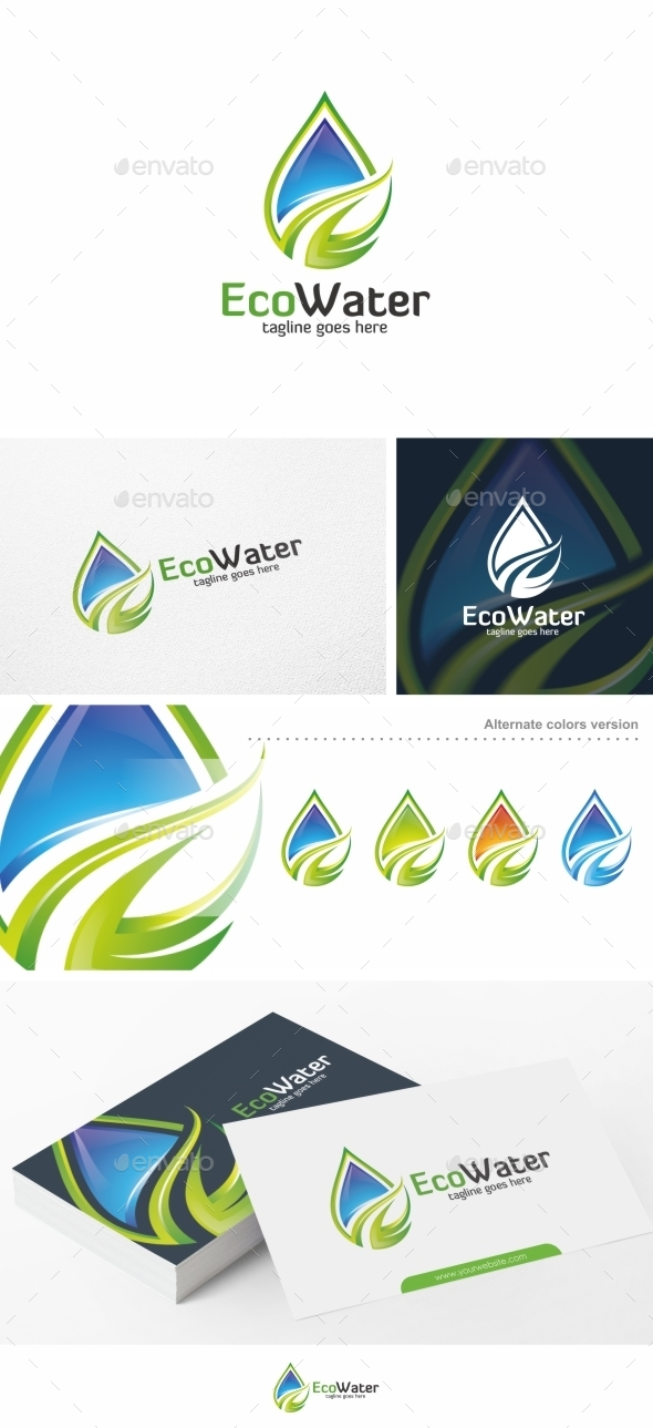 Eco Water - Logo Template - Nature Logo Templates
