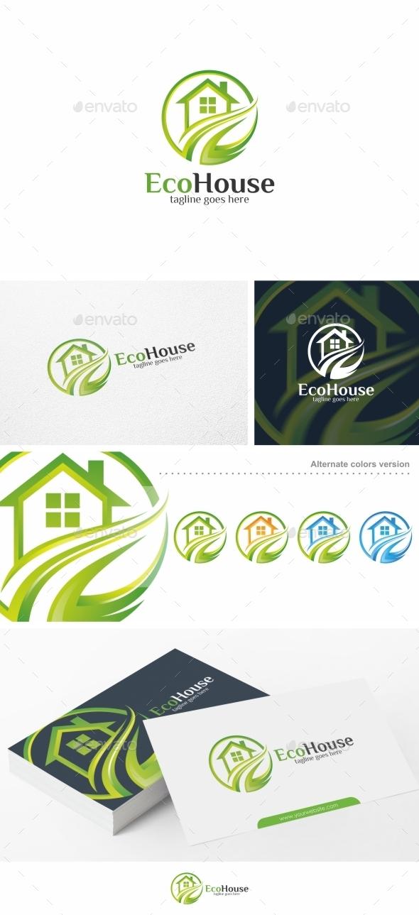 Eco House - Logo Template - Buildings Logo Templates