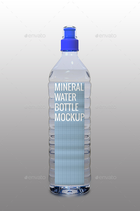 mineral water bottle mock