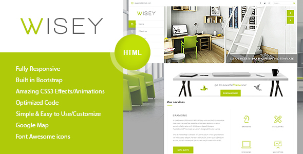 Wisey – High Performance HTML5 Template