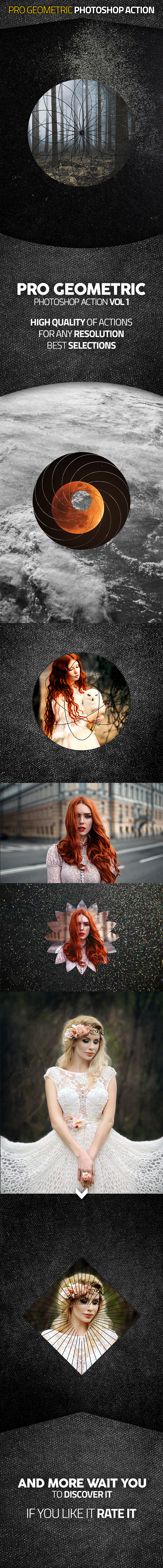 Pro Geometric Action Vol I - Photo Effects Actions