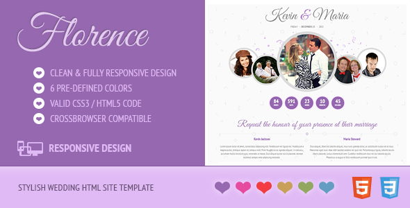 Florence - Responsive Wedding Site Template - Wedding Site Templates