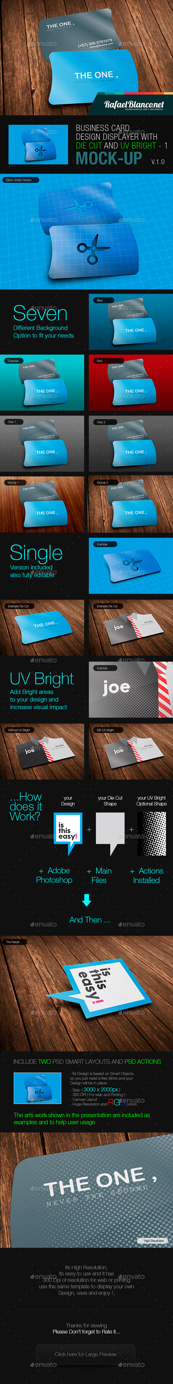 Horizontal Business Card Design Displayer with Die Cut and UV Bright - 1 - Miscellaneous Displays