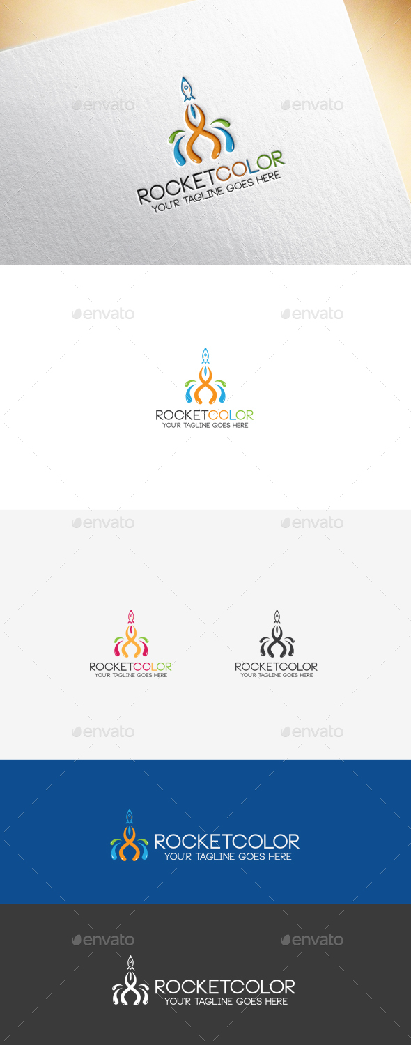 Rocket Color Logo Template - Objects Logo Templates
