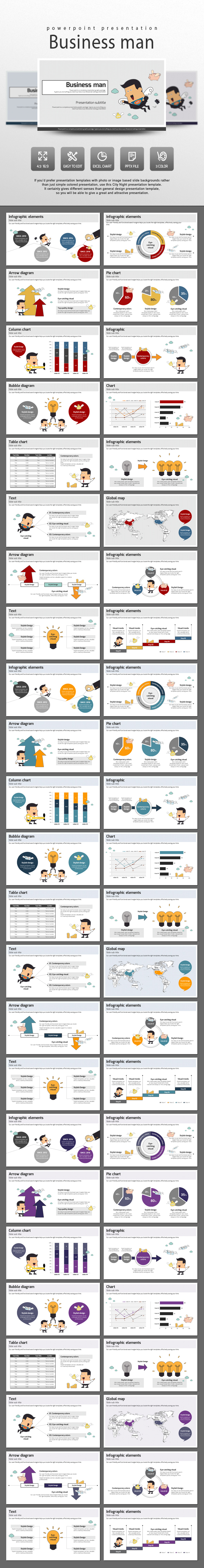 Business Man - PowerPoint Templates Presentation Templates