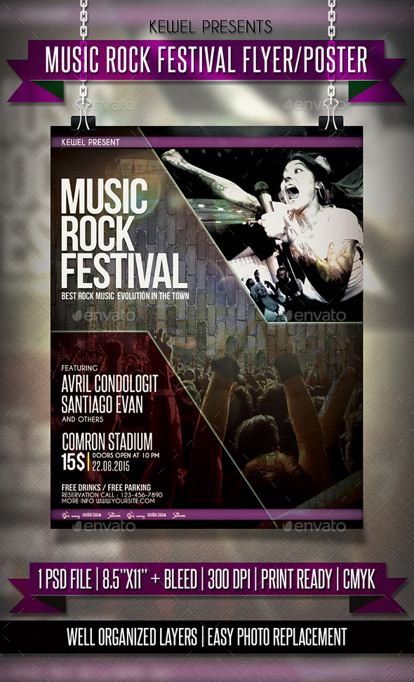 Music Rock Festival Flayer / Templates - Events Flyers
