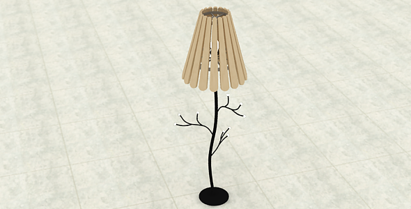 Floor standing lamp - 3DOcean Item for Sale