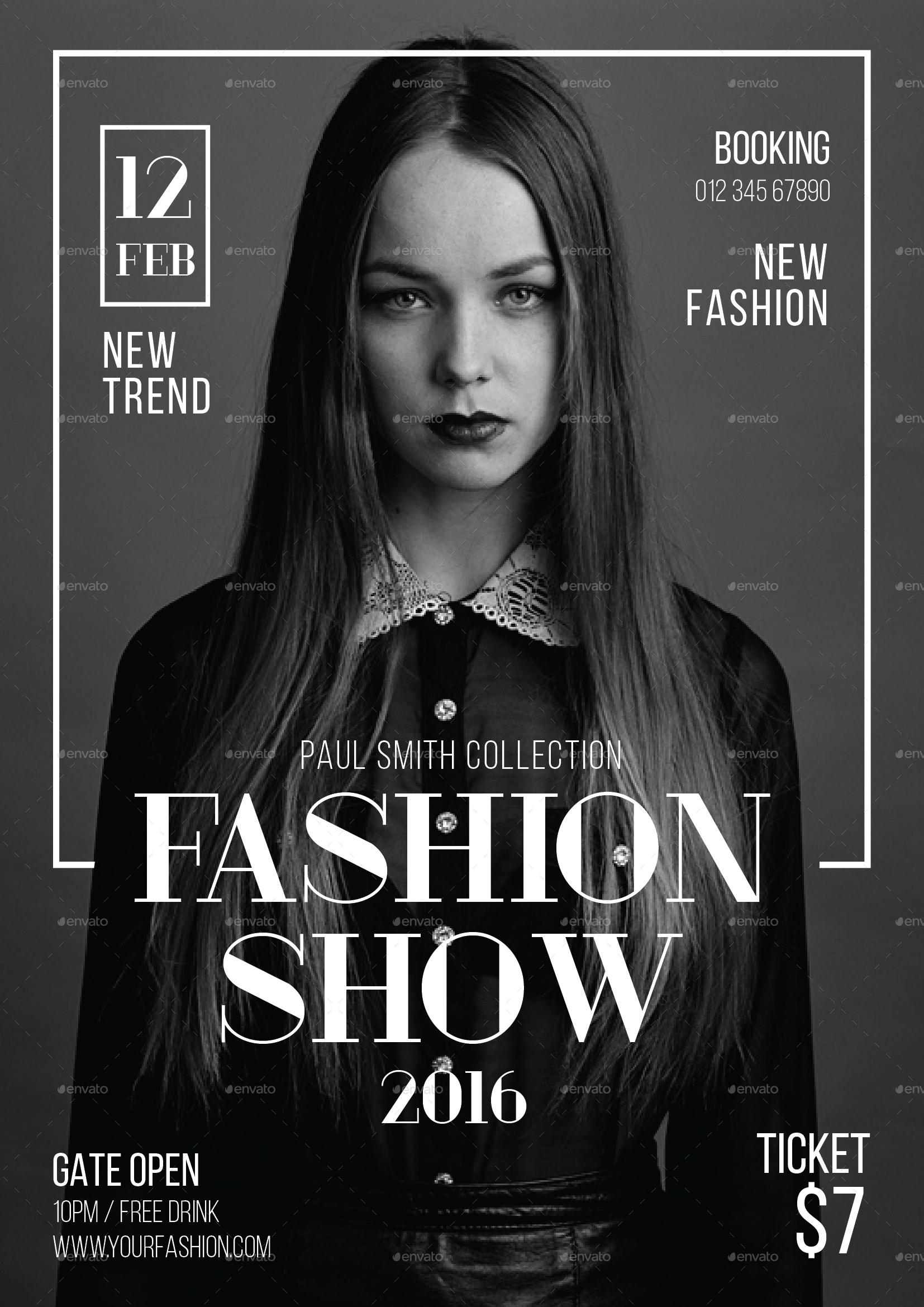 Fashion Show Flyer by tokosatsu | GraphicRiver