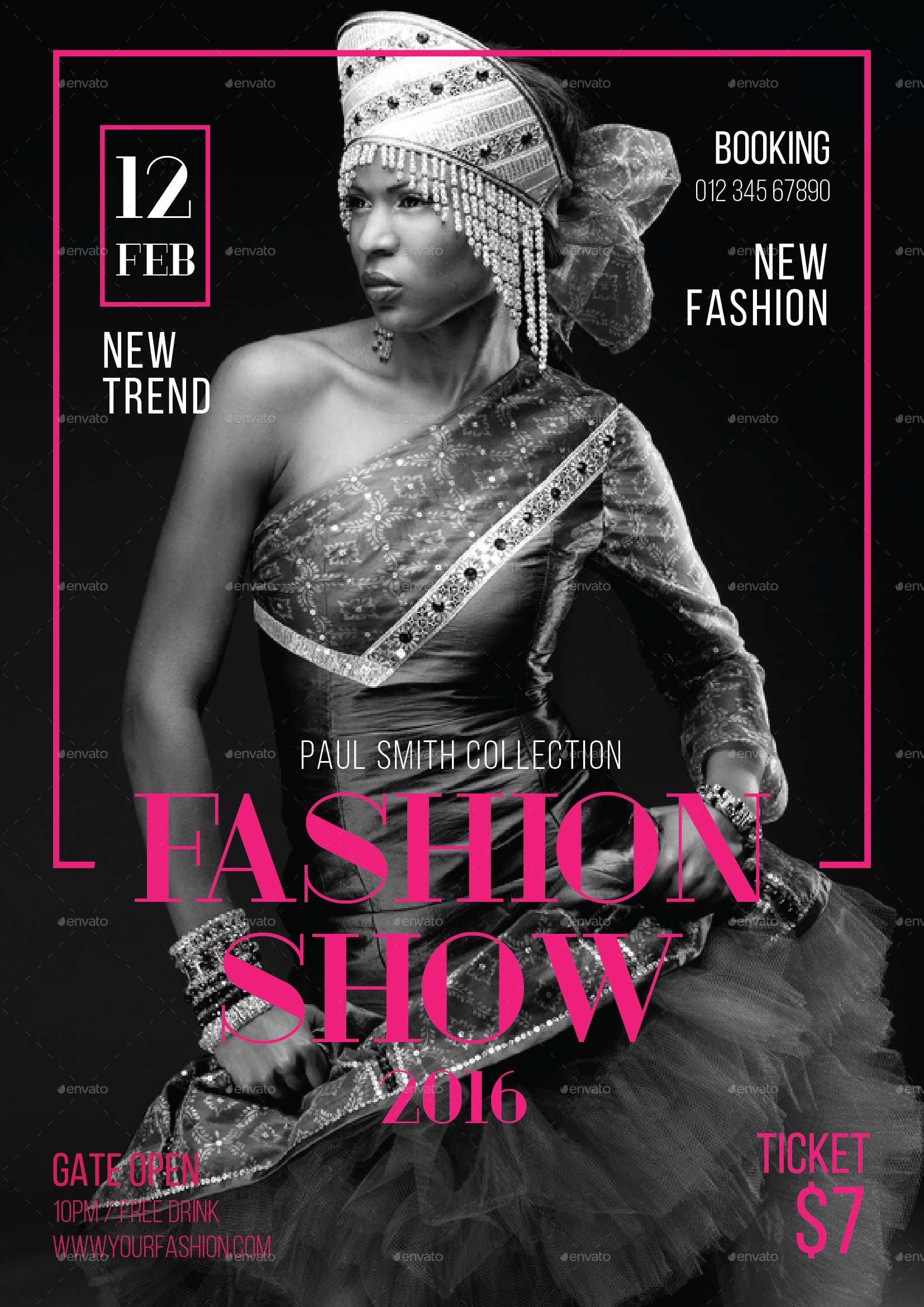 Fashion show flyer by tokosatsu graphicriver for Fashion flyers templates for free