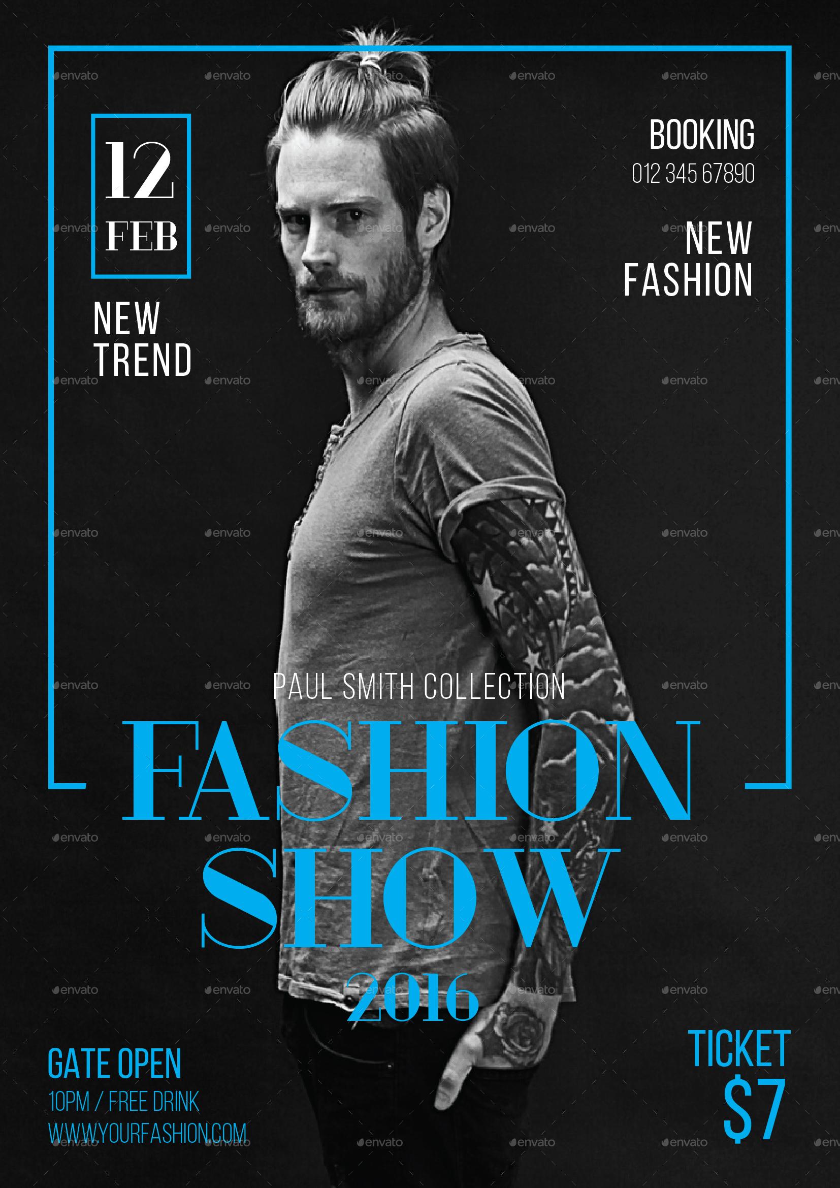 Fashion Show Flyer by tokosatsu | GraphicRiver