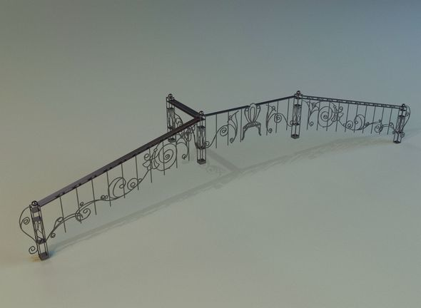 Forged railing - 3DOcean Item for Sale