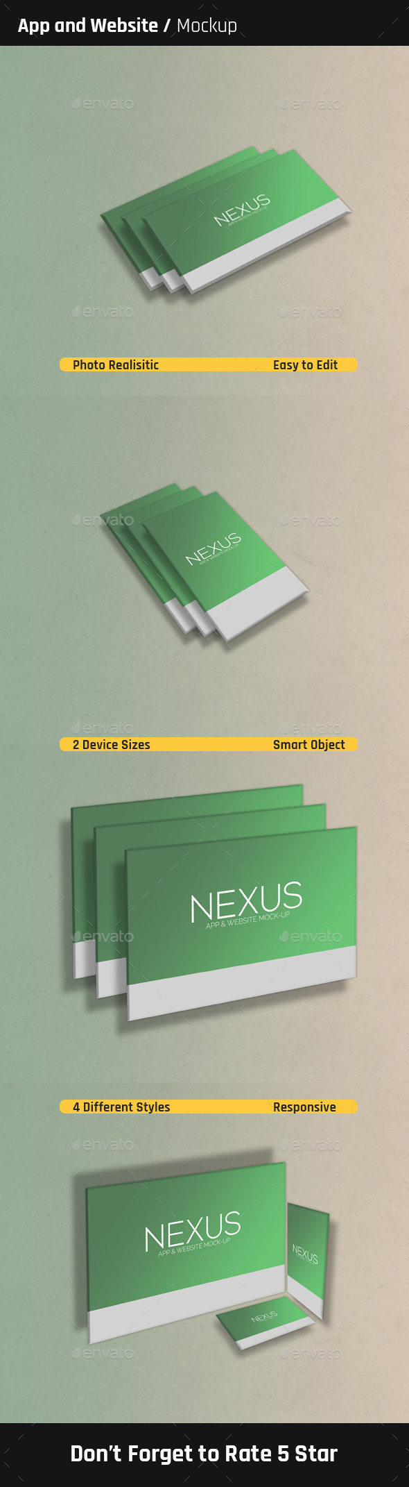Perspective App and Website Mock-Ups - Miscellaneous Displays