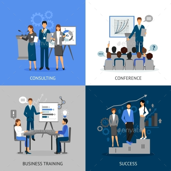 Business Training Images Set - Abstract Conceptual