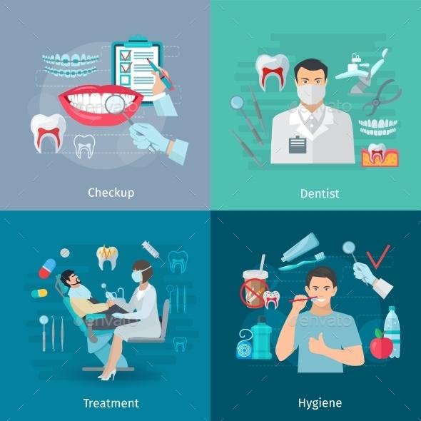 Teeth Care Square Concept  - Health/Medicine Conceptual