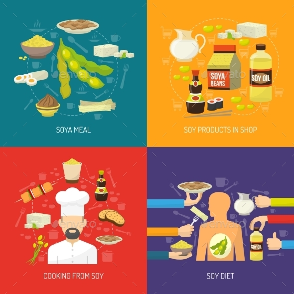 Soy Concept Set - Food Objects