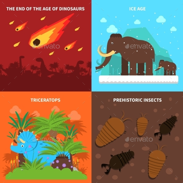 Dinosaurs Concept Set - Animals Characters