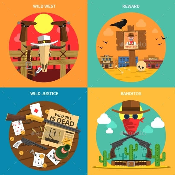 Cowboy Concept Set - Miscellaneous Vectors