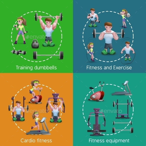 Set of Fitness Images - Sports/Activity Conceptual
