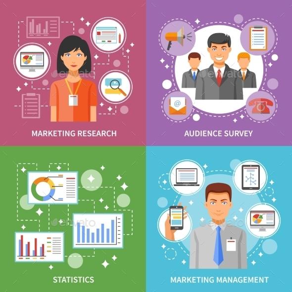 Marketing Method Flat - Concepts Business