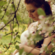 Happy Pregnant Woman In The Spring Garden - VideoHive Item for Sale