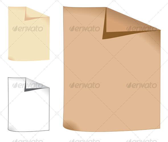 Three sheets of paper - Backgrounds Decorative