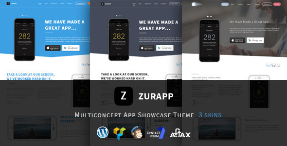 ZurApp - Multiconcept App Showcase Theme